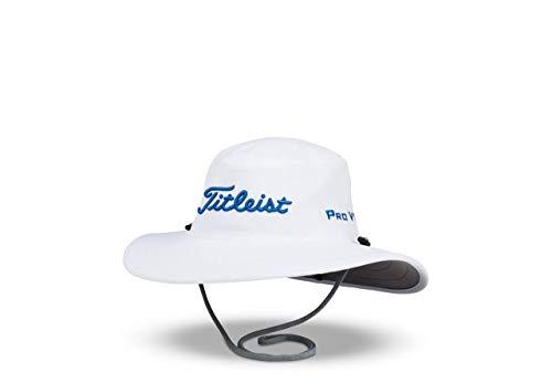 Titleist Men's Standard Tour Aussie Cap, White/Harbor Blue, One Size Fits All