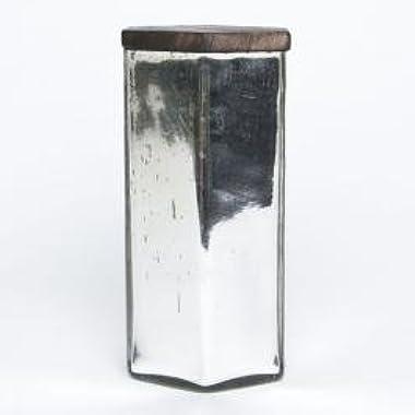 Capri Blue Volcano Hexagon Mercury Glass Candle with Metal Lid 17 Ounce