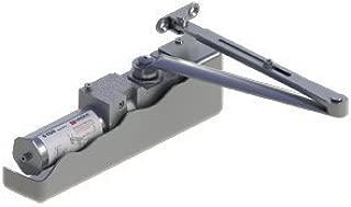 Hager 5100 Series Cast Iron Grade 1 Heavy Duty Surface Door Closer, Multi-Mount, 1–6 Adjustable Spring Size, Sprayed Aluminum Finish
