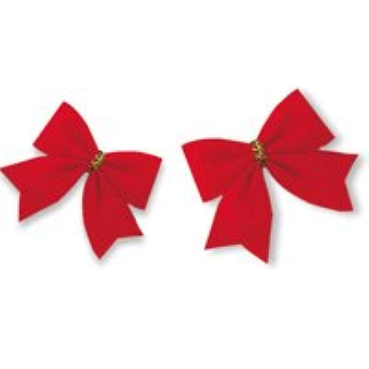 シーケンスポンペイ無駄クリスマス 飾り 赤いリボン 12コ クリスマスツリー クリスマスリース デコレーション