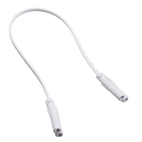 SPRINGHUA 1/10 unidades de 30 cm T4 T5 T8 conector de cable de cable de barra de luz para crecer lámpara LED fluorescente Iluminación de conexión de alambre de doble extremo (color 1 unidad)