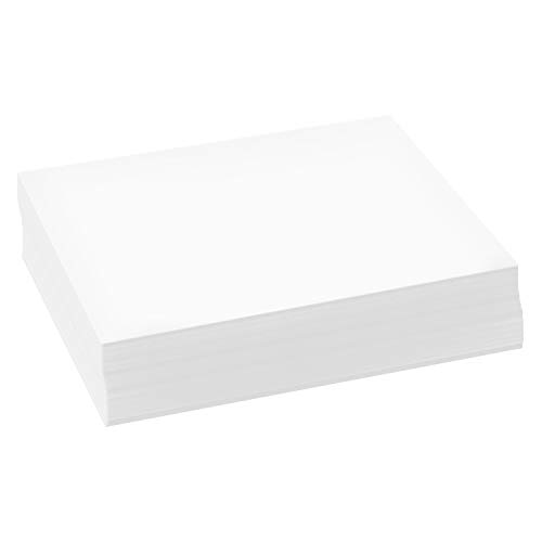 500 Sheets of Bright White 8.5″ x 5.5″ Half letter...