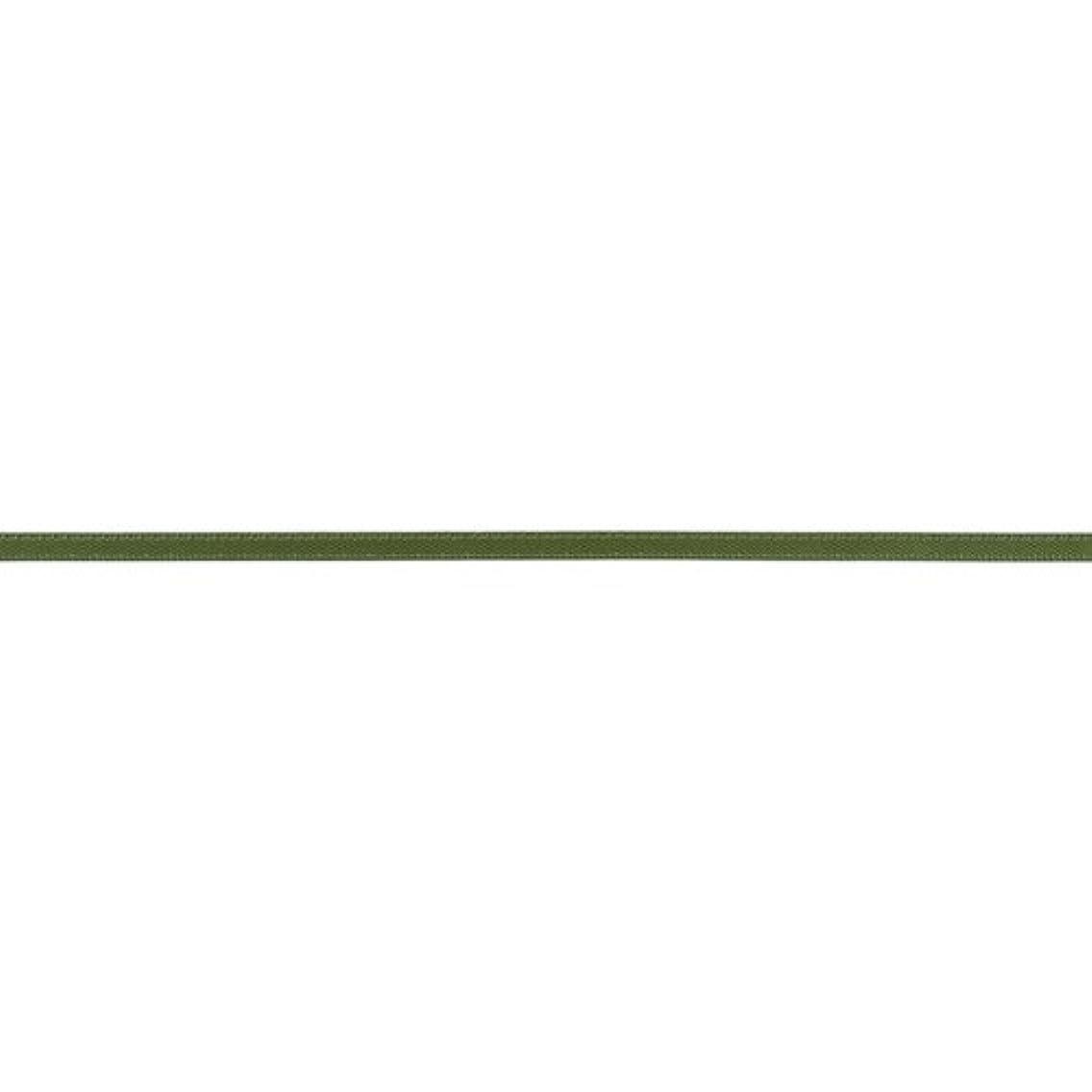 American Crafts 1/8-Inch Satin Ribbon 10-Yard Spool, Olive