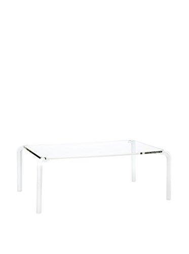 Emporium Finny 6 Tavolino Rettangolare con Piano in Metacrilato, Gambe in Metacrilato, Spessore 2.5 cm, Trasparente