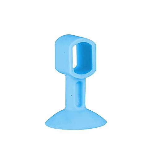 Zoeay 5 Piezas TapóN Silicona Para Puerta Tope,Silicona Anti Choques Punch-Free TapóN La Pared,Protector De Manijas De SuccióN Parachoques Silenciador Silenciador-azul
