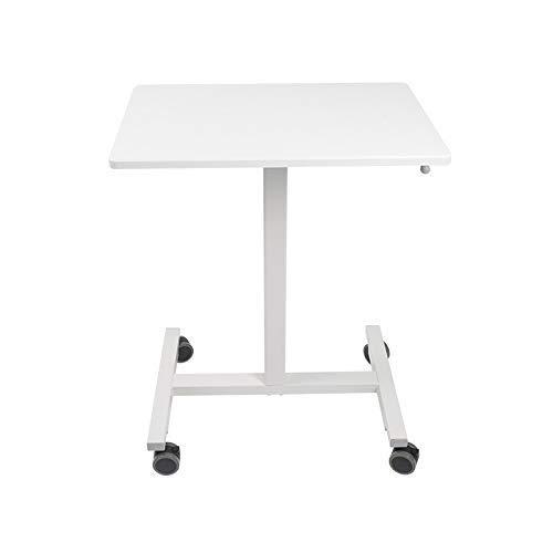 N/Z Heimausrüstung Beweglicher Computertisch Höhenverstellbar Tragbarer Laptop-Computertischwagen mit Bremsrolle Rollender Computer-Rack für Sofa-Couch (Farbe: Weiß Größe: Einheitsgröße)