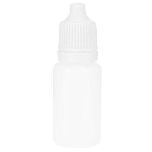 50 Stücke 5 Ml Leere Fallflaschen Squeezable Augen Flüssigkeit Flasche Container Mit Deckel Stecker Leer Auge Tropfen Weiß