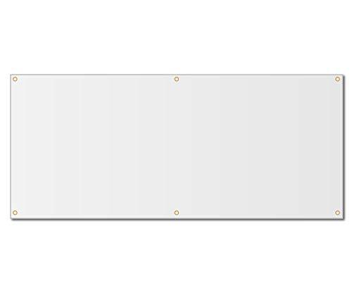 3'x6' Blank White Vinyl Banner - Grommets - 13oz