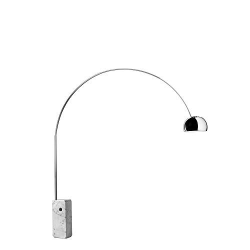 Flos ARCO LED Stehlampe, MRM, Edelstahl, 2200 x 240 x 2400 mm, 3