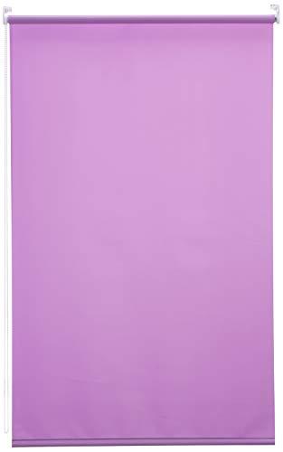 Blindecor Ara - Estor enrollable translúcido liso, Morado, 100 x 175 Cm (ancho x alto)
