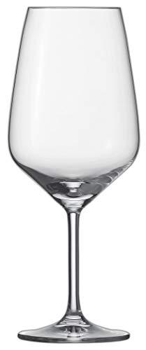 Schott Zwiesel 115672 Bordeaux 130 Rotweinglas, Bleikristallglas, klar, 9,5 x 9,5 x 23,7 cm, 6 Stück