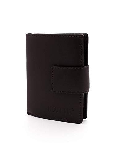 Figuretta leren RFID uitschuifbare creditcardhouder - Inclusief Sleutelhanger - Portemonnee - Anti skim pasjeshouder