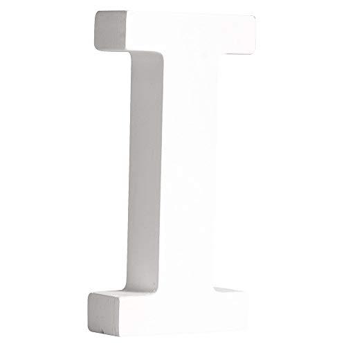 Rayher 62660000 MDF- Buchstabe I , weiß, 11cm, Stärke 2cm