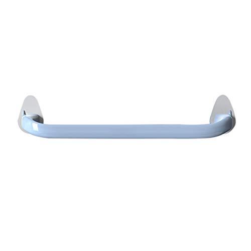 Yunly Toallero autoadhesivo, para pared, para cocina, baño, sin perforaciones, toallero, estante de almacenamiento grueso (azul)