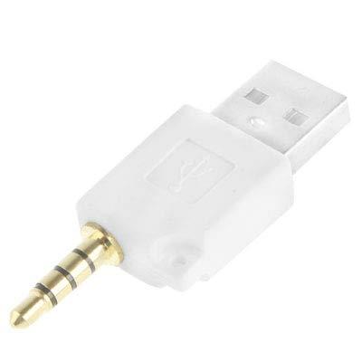 Adaptador de muelle del cargador de datos USB, for el iPod shuffle de 3ª / segundo, longitud: 4,6 cm Nueva (Magenta) Sleeveli (Color : White)
