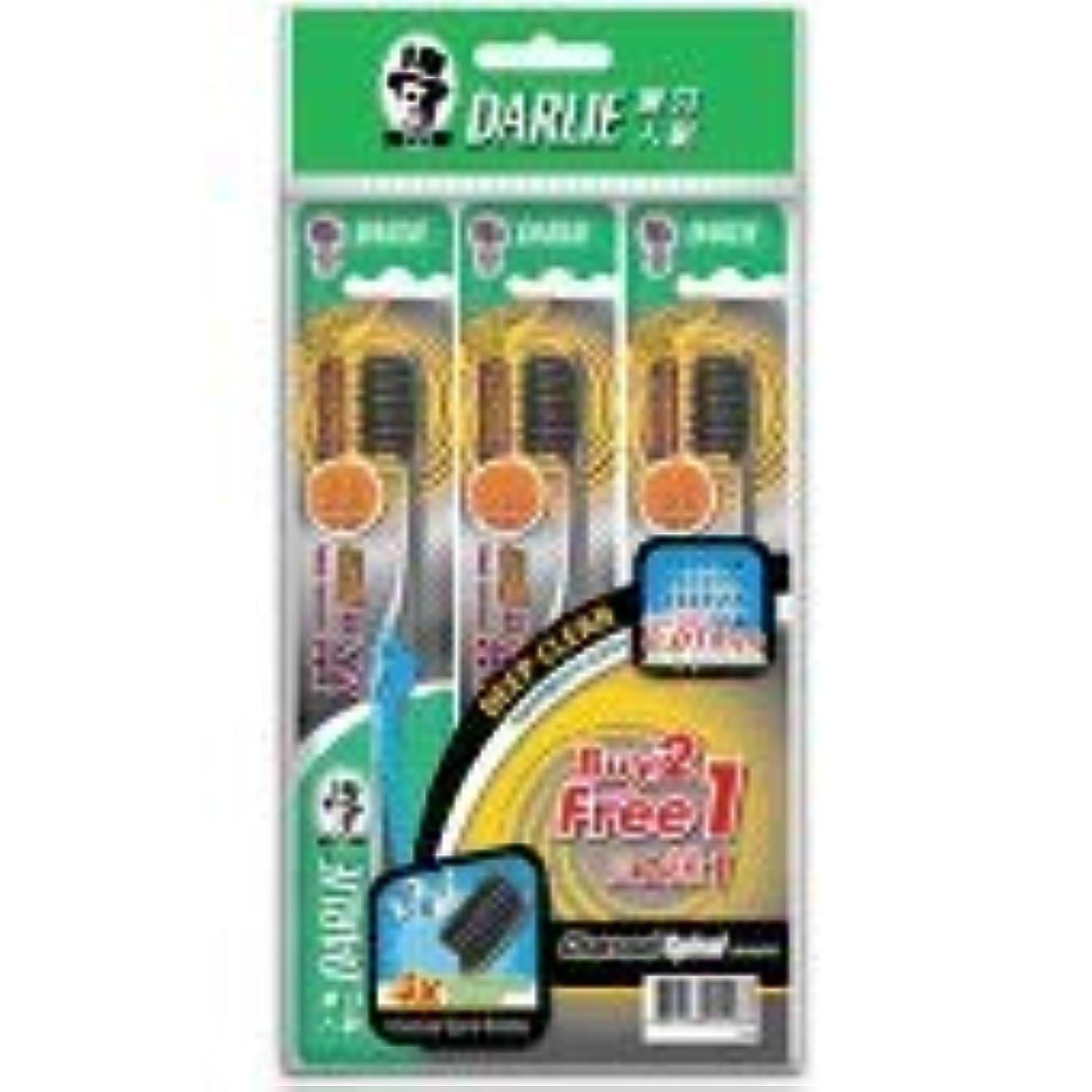 の配列有効な疑い者DARLIE 歯の間に深く達する歯ブラシ炭スパイラル b2f1