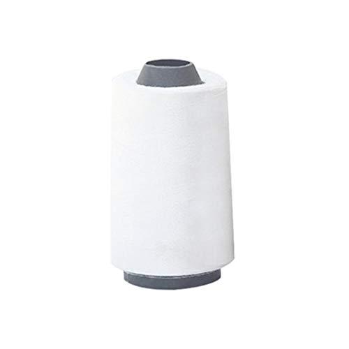 Milisten 3000 Yardas Hilos de Coser Bobinas de Hilo Cono para Serger Acolchado Tapicería Tapicería Cortinas Máquina de Coser (Blanco)