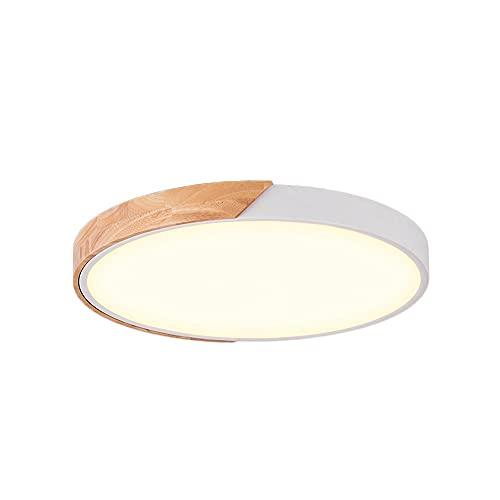 Moderna iluminación ultra delgada de techo congelado blanco empotrado colgante 11.8'Mini sentido liderado de espacio suspensión redondo acrílico semi al ras de montura regulable lámpara colgante para