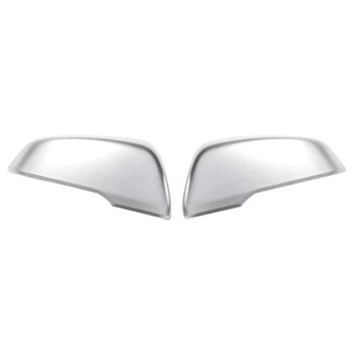 ZHANGJN Cubierta de Espejo, Tapa de la Cubierta del Espejo del Lateral de la Puerta Trasera del Cromo Mate para BMW X1 F48 2017 Accesorios para automóviles Estilo de automóvil