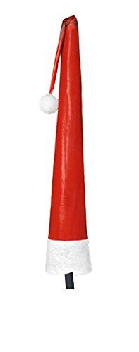 Leco hochwertige Schutzhülle für Sonnenschirme mit einem Durchmesser bis 400 cm aus Hochglanz-Lackfolie in rot mit täuschend echter Felloptik Nikolaus