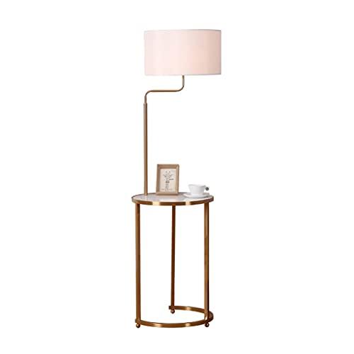 Floor Lamp Standing Light Vertical Lamps Lights Floor Lamp White Natural Marble Table Modern Standing Lamp Shade 62.9in Tall Pole Standing Light For Living Rooms,Bedroom, Office Floor Lamps Indoor Lig
