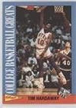 Tim Hardaway (Basketball Card) 1991-92 Kellogg's College Basketball Greats - [Base] #14