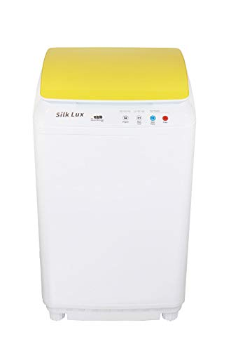 The Laundry Alternative - Silk Lux Portable Mini Automatic Washing Machine - 7.7-Pound Load Capacity - Yellow