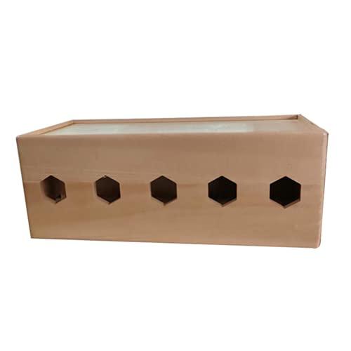 WYJRF Caja de Gestión de Cables Caja Organizadora de Cables Caja para Esconder Cables para la Oficina en el Hogar Organizador para Regletas de Enchufes 40 X 18 X 15 Cm