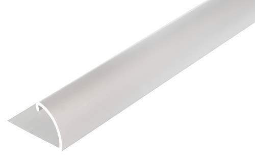 GAH-Alberts 476557 Abschlussprofil | Aluminium, silberfarbig eloxiert | 1000 x 24,5 x 13,5 mm
