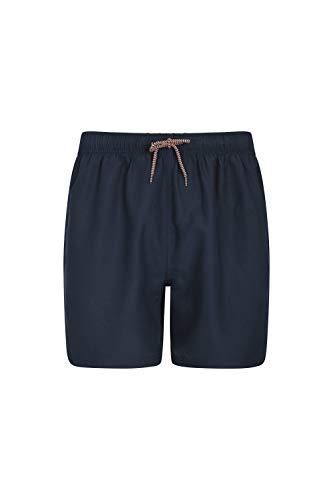 Mountain Warehouse Bañador Corto Aruba para Hombre - Bañador de Secado rápido, Pantalones Ligeros, bañador con cordón Ajustable para la Playa - para Vacaciones y Piscina Azul Marino XL