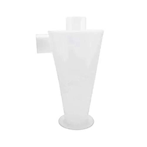YANG WU Colector de Polvo ciclónico, pequeño Separador ciclónico antiestático Separador de Polvo en Polvo Cubo recolector de Polvo de serrín, Blanco Industrial