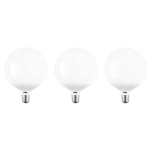 Juego de 3 bombillas DYA LED GLOBO G120, 18 W, 1700 lúmenes,...