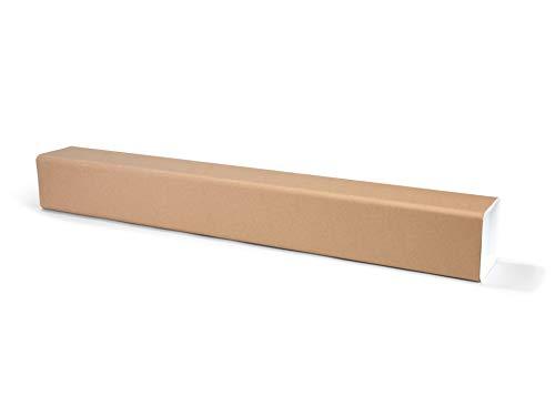Quadratische Versandhülse, bis DIN A0+, Versandkarton als Verpackung für Zeichnungen und Poster, mit Deckel, 12,5 cm x 12,5 cm x 103,0 cm, braun
