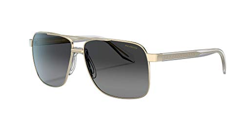 Versace Mens Sunglasses (VE2174) Pale Gold/Grey Metal,Acetate,Steel - Polarized - 59mm