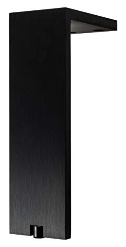 Gedotec Kommoden-Fuß höhen-verstellbar Möbelfuß schwarz matt Schrankfuß Vintage eckig - Fonda | Höhe 200 mm | Tragkraft 100 kg | 1 Stück - Design Sockelfuß Aluminium für Couch - Sofa - Bett uvm.