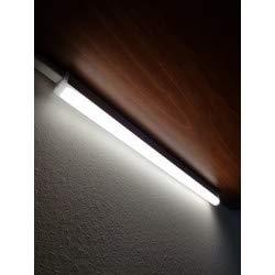 ISA - Regleta de cocina LED con interruptor – Policarbonato blanco – LED integrado 18 W 1550 Lm 4000 K – IP20 CLII