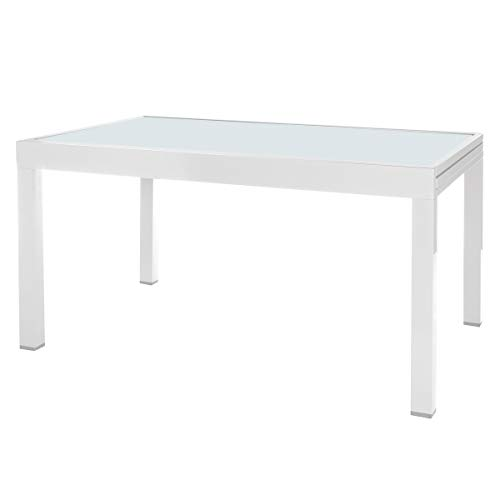 Mesa para jardín Extensible de Aluminio Blanco Garden - LOLAhome