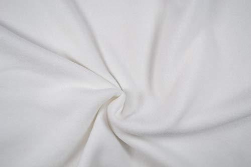 Polarfleece Antipeling 0,5 m Uni - Kuschelfleece Microfleece Meterware - Fleece Stoff- 400g/m (Weiß)