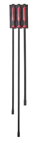 Mayhew Tools 14068 Dominator Pro Long, Heavy-Duty Pry Bar Set With Rack, 3-piece