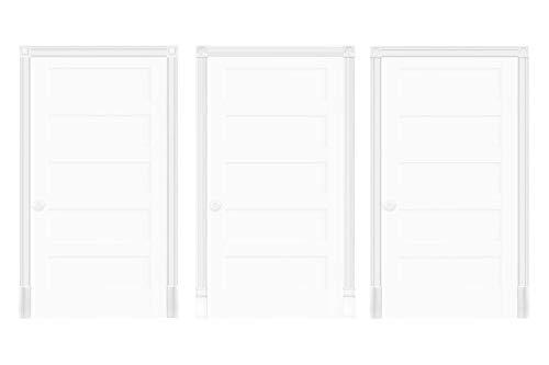 Türumrandung DK07 - Rahmen aus PU Kunststoff weiß, Sets-/ & Komponentenauswahl - HEXIM Perfect (Komplettset DK076)