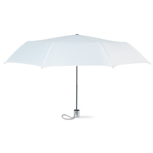 Mini Folding Compact Umbrella with Pouch, Manual Opening Regenschirm, 94 cm, Weiß (White)