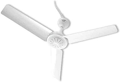 LITINGT - Ventilador de techo moderno de 60 cm de diámetro, color blanco, con tres hojas mini silenciosas, no se estropea la mano o estudiante, dormitorio, oficina, casa, ventilador de techo