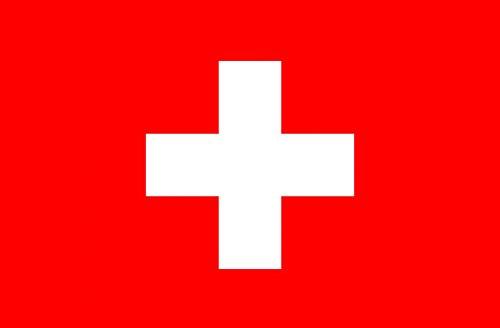 SCHWEIZER FAHNE mit 2 Ösen 90x150cm Flagge Schweiz Hissflagge Hissfahne Fahnen