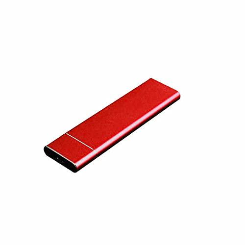 Hard disk esterno portatile, disco rigido esterno sottile, USB 3.1, compatibile con PC portatile e Mac (4TB, rosso)