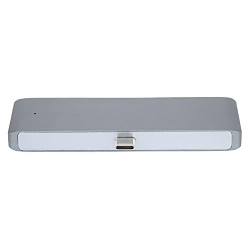 CHENQIAN Mindpure USB3.0 HUB Type-C a USB3.0 + Interfaz Multimedia de Alta definición + AUDIO3.5 + PD para portátiles con Windows Tipo C Gris Plateado