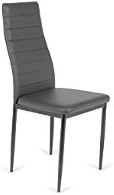 IMPT-HOME-DESIGN - Pack 6 sillas tapizadas Oviedo - Gris