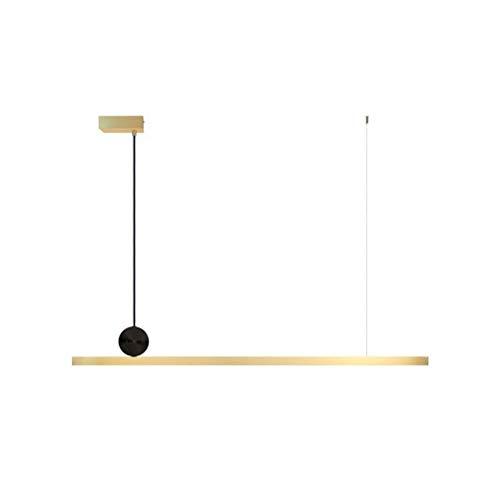 H.L Kronleuchter Moderne Minimalistische All-Kupfer-Streifen Drei-Farben-Licht Pendelleuchte Deckenbeleuchtung Wohnzimmer Schlafzimmer Restaurant Bar Café LED-Lichtquelle Deckenventilatoren mit Beleuc