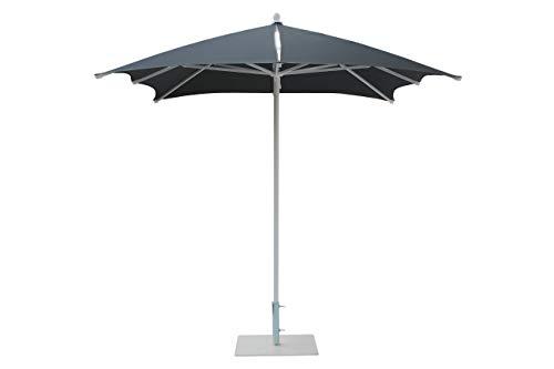 Maffei Art 25 DAMA, Parasol de Design carré, avec insertions en Kristal, cm 225x225/8. Fabriqué en Italie