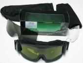 A. Blöchel US Army Schutzbrille Sonnenbrille Armee Deluxe Arbeitsschutzbrille Skibrille Snowboardbrille Schwarz