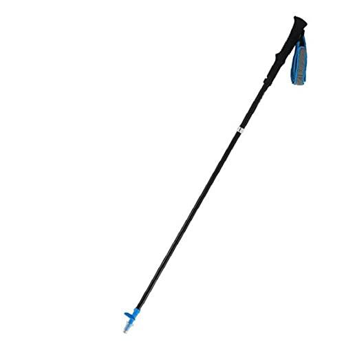 Eaarliyam Bastones de Trekking - Montañismo Plegable del palillo con el Sistema de Bloqueo rápido para el Senderismo [Azul]